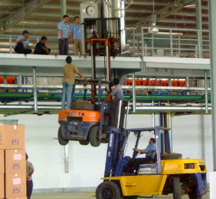 Operator training to avoid accidents