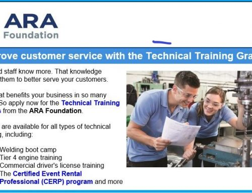 ARA Foundation Provides Technical Training Grants