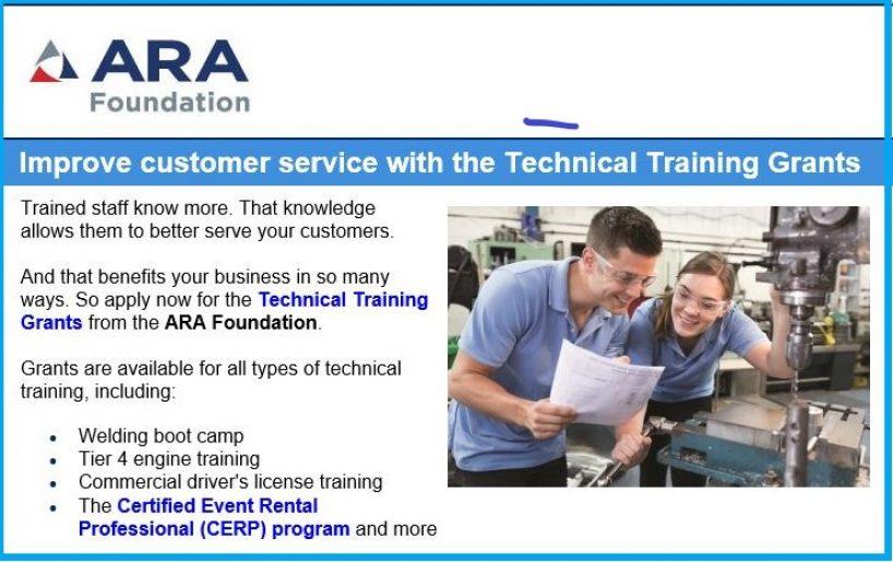 Training Grants by ARA Foundation