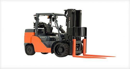 Forklift Rentals: 10,000LB TOYOTA CUSHION TIRE FORKLIFT